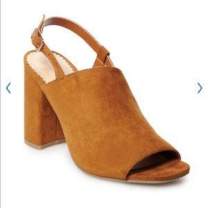 LC Lauren Conrad Alexandrite Heeled Mule Sandal